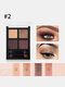 4 Colors Shiny Eyeshadow Palette Brushes Matte Nude Long Lasting Waterproof Daily Makeup - #02