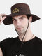 Unisex Outdoor Solid Climbing Fishing Sunshade Adjustable Side Buckle Bucket Hat - Coffee