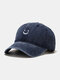 Unisex Cotton Made-old Smiling Face Young Outdoor Sunshade Baseball Hat - Navy