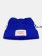 Men & Damen Cute Piggy Katze Ohren Plain Color Warm halten Winddicht gestrickt Hut - Blau