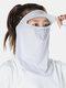 Женский цельный цельный ледяной шелк Шапка с полями на лбу и Шея Защита от солнца на все лицо UV Защита Маска - Серый