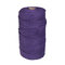 1Pc 200mx3mm Color Cotton Rope Cotton Thread Braiding Rope Hand DIY Decorative Rope Tapestry Weaving Rope - Dark Purple