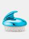 Hair Scalp Anti-itch Massage Brush Remove Dandruff Promote Hair Growth Shampoo Brush - Blue