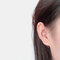 Copper Inlaid Zircon Plated Gold Puncture Earrings Surround Auricle Women Ear Clip - 02