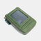 Men Genuine Leather RIFD 10 Card Slots 2 Leather Layer Wallet - Green