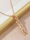 Creative English Version Twelve Constellation Necklace Women Clavicle Chain - Pisces