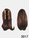 8 Colors Straight Hair Extensions High Temperature Fiber Catch Clip Small Ponytail - #05