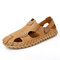 Men Casual Non Slip Hard Wearing Brief Hand Made Outdoor Sandals - Sand Color