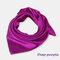 Square Plain Scarf Silk Headband Small Neckerchief Head Neck Lady Women Scarves - Purple