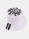 Cappello da pescatore unisex in cotone con stampa a lettera Modello in twill - bianca
