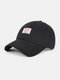 Unisex Cotton Embroidery Letter Pattern Summer Casual Sunshade Fashion Baseball Hat - Black