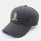Men & Women Cactus Cartoon Embroidery Baseball Cap - Black