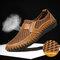 Sapatos Casual Homens Outdoor Confortável Respirável Designe Favo de Mel - Castanho