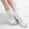 Women Cotton Soft Breathable Mesh Casual Boat Socks - White