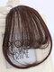 Mini Bangs Air Bangs Hair Extensions No-Trace Bangs Wig Piece - AP401 Dark Brown