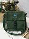 Men Stylish Canvas Crossbody Bag Shoulder Bag Square Bag - Green