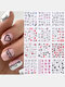 12 Pcs Nail Art Stickers Love Letter Flower Sliders Nail Art Decoration Valentine's Day Transfer Stickers - #01