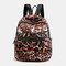 Women Multi-pocket Print Casual Lightness Backpack - #06