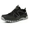 Men Mesh Breathable Outdoor Lace Up Hiking Sport Shoes - Black