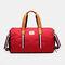 Separate Dry And Wet Gym Bag Woman Man Luggage Bag Travel Bag Portable Leisure Yoga Bag cylinder Bag - Red