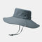 Hat Male Sun Hat Outdoor 12CM Oversized Brim Fisherman Hat Men Summer Mountaineering Sun Hat - Dark Grey