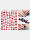 3D Nail Art Stickers Heart Colorful Red Lip Nail Transfer Decals Valentine's Day Tips - #11