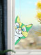 Cute Animal Pattern Hanging Decor Cat/Dog Print Sun Catcher Window Hanging Ornament Pendant For Window Wall Door - Green