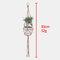 Knotted Macrame Plant Hanger Vintage Cotton Linen Flowerpot Basket Lifting Rope Hanging Garden Tools - 85cm