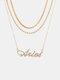Collar Vintage Doce Constelaciones Mujer Collar de diamantes con incrustaciones de múltiples capas Colgante - Aries