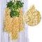 12 قطعة / المجموعة 100 سنتيمتر الزهور الاصطناعية الحرير الوستارية وهمية حديقة معلقة زهرة النبات كرمة ديكور الزفاف - شامبانيا