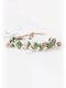 Ceramic Alloy Brown Vintage Jewelry Ceramic Bead Weaving Bracelet - #03