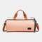Separate Dry And Wet Gym Bag Woman Man Luggage Bag Travel Bag Portable Leisure Yoga Bag cylinder Bag - Pink 1