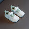 Unisex Kids Breathable Comfy Non Slip Soft Casaul White Trainers - Green