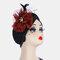 المرأة المسلمة الحجاب الحجاب قبعة صغيرة قبعة كاب متعدد الألوان مقنعين - أحمر
