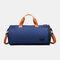Separate Dry And Wet Gym Bag Woman Man Luggage Bag Travel Bag Portable Leisure Yoga Bag cylinder Bag - Blue 2