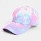 Unisex Tie-dye Cotton Multi-color Gradient Color Sunscreen Visor Sun Hat Baseball Hat - #08