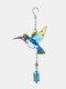 1 unidade Colorful Dragonfly Beija-flor Pingente Sino Tubo Wind Chimes Interior Exterior Jardim Enfeites de Decoração para Casa - #04