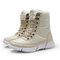 كبير الحجم اللون المباراة الربط الدانتيل يصل منتصف أحذية الثلوج منتصف الساق