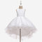 Girl's Floral Embroidered Patchwork Gauze Princess Casual Dress for 6-13Y - White