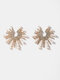 Trendy Pearl Earrings Temperament Alloy Diamond Earrings - Gold