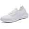 Fashion Breathe Mesh Women Walking Comfortable Outdoor Lace-up Sneakers - White