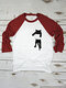 Cartoon Cat Print Long Sleeves O-neck Casual T-shirt For Women - Red