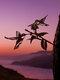 23-Types Metal Garden Tree Insert Decor Hummingbird Owl Simulation Animal Art Ornament - #01