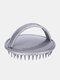 Household Shampoo Brush Anti-Itch Scalp Massage Comb Salon Hair Styling Tools - Gray