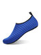 Plus Size Women Beach Water Proof Snorkeling Shoes Mesh Material Antiskid Upstream Wading Sneakers - Blue
