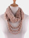 Bohemian Plush Imitation Pearl Necklace Autumn Winter Beaded Pendant Scarf Necklace - #11