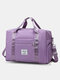 Foldable Travel Duffel Bag Luggage Sports Gym Water Resistant Oxford - Purple