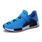 Men Fabric Comfy Breathable Non Slip Casual Sneakers - Blue
