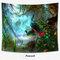 سقوط الأشجار الطاووس الأيائل غابة الطباعة الجدار الشنق Tapestey ديكور المنزل نسيج