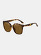 Unisex Wide Frame Fashion Outdoor Cool UV Protection Sunglasses - Brown